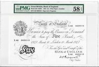 GREAT BRITAIN BANK OF ENGLAND   5 POUNDS 1947. THIN PAPER. P