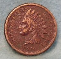 1860 INDIAN HEAD PENNY VF DETAILS   CIRCULATED US COIN 1496