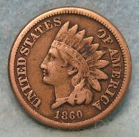 1860 INDIAN HEAD PENNY FINE   CIRCULATED US COIN 1498