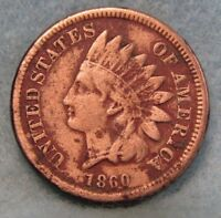 1860 INDIAN HEAD PENNY FINE   CIRCULATED US COIN 1497