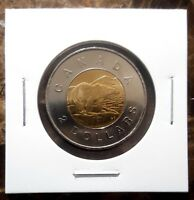CANADA 2012 OLD GENERATION  NO SECURITY FEATURES  TOONIE BU UNC FROM MINT ROLL