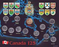 1992 CANADA 125TH ANNIVERSARY PROVINCIAL 13 COIN SET IN MINT CONDITION