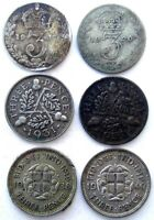 GREAT BRITAIN COINS THREEPENCE 1917 & 1920 & 1931 & 1932 & 1