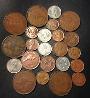 OLD AUSTRALIA COIN LOT   1924 PRESENT   23 GREAT COINS   LOT