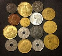 OLD THAILAND COIN LOT   1929 1957   15 HIGH QUALITY OLDER CO
