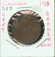 WORLD COINS CANADA 1913 LARGE CENT CH AU    2G527