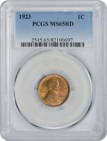 1923 LINCOLN CENT MINT STATE 65RD PCGS MINT STATE 65 RED