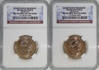 2010 P & D 14TH PRESIDENT FRANKLIN PIERCE MINT STATE 65 FIRST DAY OF ISSUE 2-COIN SET