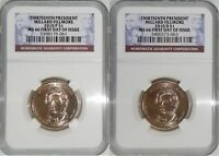 2010 P & D 13TH PRESIDENT MILLARD FILLMORE MINT STATE 66 FIRST DAY OF ISSUE 2-COIN SET