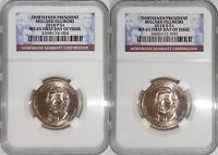 2010 P & D 13TH PRESIDENT MILLARD FILLMORE MINT STATE 65 FIRST DAY OF ISSUE 2-COIN SET