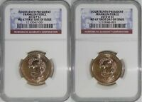 2010 P & D 14TH PRESIDENT FRANKLIN PIERCE MINT STATE 67 FIRST DAY OF ISSUE 2-COIN SET