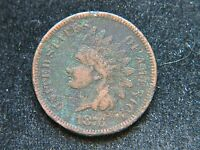 1876 1C BN INDIAN CENT SHARP DETAIL FULL BOLD LIBERTY SHOWS