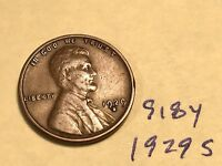 1929-S 1C BN LINCOLN CENT 918Y
