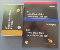 2011 P/D/S US MINT PROOF & UNCIRCULATED SET IN ORIGINAL MINT PACKAGE & COA