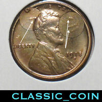 1918 S LINCOLN WHEAT CENT 1C UNCIRCULATED DETAILS CUD ERROR