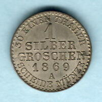 GERMANY   PRUSSIA. 1869 A 1 SILVER GROSCHEN..  FULL LUSTRE.. UNC