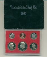 1980 S UNITED STATES PROOF SET ORIGINAL BOX
