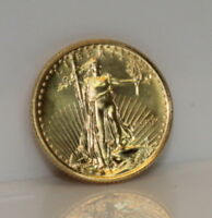 1990 $5 1/10 OZ GOLD AMERICAN EAGLE BRILLIANT UNCIRCULATED  ONLY 210K MINTED C54