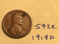 1919 D LINCOLN CENT   FROM THE PREMIUM WHEAT COLLECTION 592E