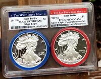 2017 SILVER EAGLE CONGRATULATIONS SET - PCGS PROOF 70 - WEST POINT - SAN FRAN.