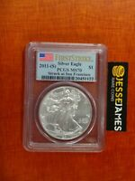 2011 S $1 AMERICAN SILVER EAGLE PCGS MS70 FIRST STRIKE STRUCK AT SAN FRANCISCO