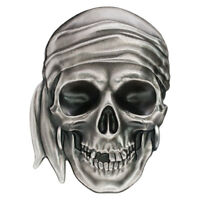 2017 PALAU PIRATE SKULL HIGH RELIEF 1 OZ SILVER ANTIQUED PROOF $5 OGP SKU50437
