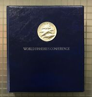 1984 WORLD FISHERIES CONFERENCE COMPLETE FAO COIN ALBUM AS I