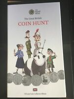 VERY  1ST EDITION 50P GREAT BRITISH COIN HUNT ALBUM COMPLETE