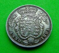 A  CRACKING  GEORGE  IV  UNC  1821  SILVER  SHILLING  1/ ..