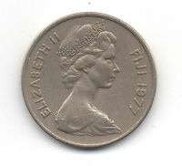 FIJI 1977 20 CENTS COIN QUEEN ELIZABETH THE SECOND