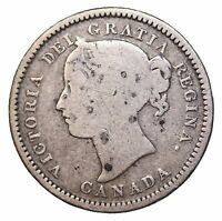 1870 CANADA SILVER 10 CENTS QUEEN VICTORIA BRITISH KM3