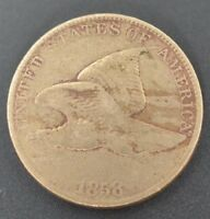 1858-LL FLYING EAGLE CENT IN FINE CONDITION