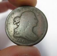 1808 NORMAL DATE DRAPED BUST HALF CENT