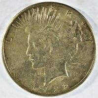 1922-S COLLECTIBLE SILVER PEACE DOLLAR B13.5