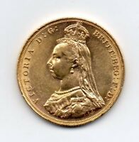 1887 GOLD FULL SOVEREIGN COIN VICTORIA JUBILEE HEAD MELBOURN