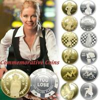 ALLOY GOLD PLATING SEXY COMMEMORATIVE COIN CRAFTS GIFTS COLLECTION 40   3 MM