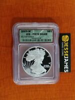 2003 W PROOF SILVER EAGLE ICG PR70 DCAM GREEN LABEL