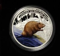 2015 $20 FINE SILVER   BEAVER AT WORK