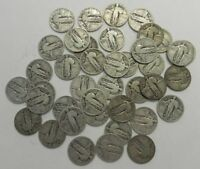 MIXED DATE ROLL 40 OF 90 SILVER STANDING LIBERTY QUARTERS PDS  3