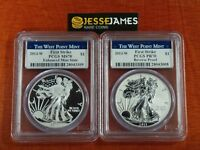 2013 W REVERSE PROOF SILVER EAGLE PCGS PR70 MS70 FIRST STRIKE WEST POINT SET