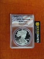 2000 P PROOF SILVER EAGLE ANACS PR70 DCAM FLAG LABEL BETTER DATE
