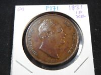 F171 GREAT BRITAIN 1831 PENNY XF