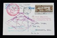 NYSTAMPS US AIR MAIL STAMP  C14 USED $400 ON POST CARD