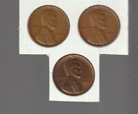 1940D / 1941D / 1942D   LINCOLN  CENTS  RS COINS  ALL 3  EXTRA FINE  11505
