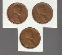 1947D / 1948D / 1949D   LINCOLN  CENTS  RS COINS  ALL 3  EXTRA FINE  11507