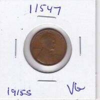 KAPPYSWHOLESALE  ID11547 1915S LINCOLN CENT KEY DATE VG  GOOD COLLECTOR COIN