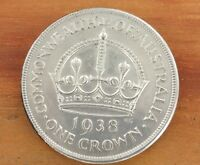 HIGH GRADE 1938 AUSTRALIAN CROWN. FREE REGISTERED POST IN A