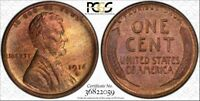 1916-S 1C LINCOLN WHEAT CENT PCGS MINT STATE 65RB SEMI KEY DATE, PQ, TOP POP