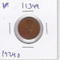 KAPPYSWHOLESALE  ID11349 1924D LINCOLN CENT VF  FINE   COLLECTOR COIN