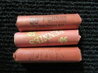 WHEAT CENTS  3 ROLLS  PRE 1920'S THRU 1950'S  3 ROLLS / 1 PRICE  SHIPS FREE